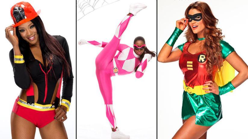 wwe las divas posaron con sensuales disfraces para halloween fotos - Wwe Halloween Divas