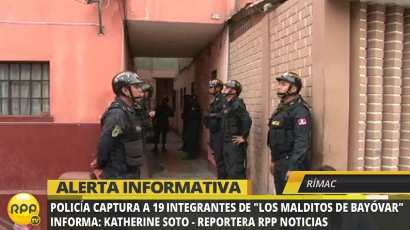 PNP capturó a 19 miembros de 'Los Malditos de Bayóvar'