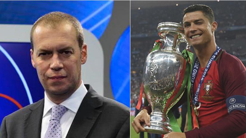 Youtube: periodista atacó a Cristiano Ronaldo tras ganar la Eurocopa