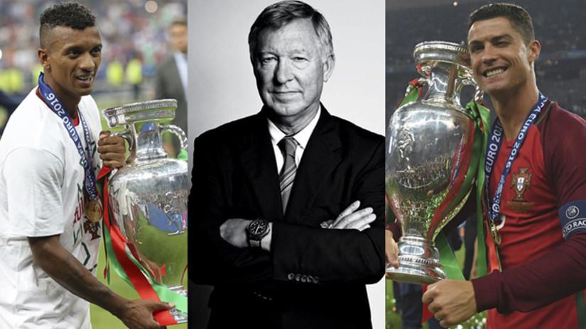 YouTube: el reencuentro de Cristiano Ronaldo y Nani con Ferguson