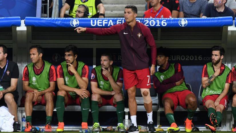 ¿Cristiano Ronaldo técnico? así dirigió a Portugal en la final de la Euro
