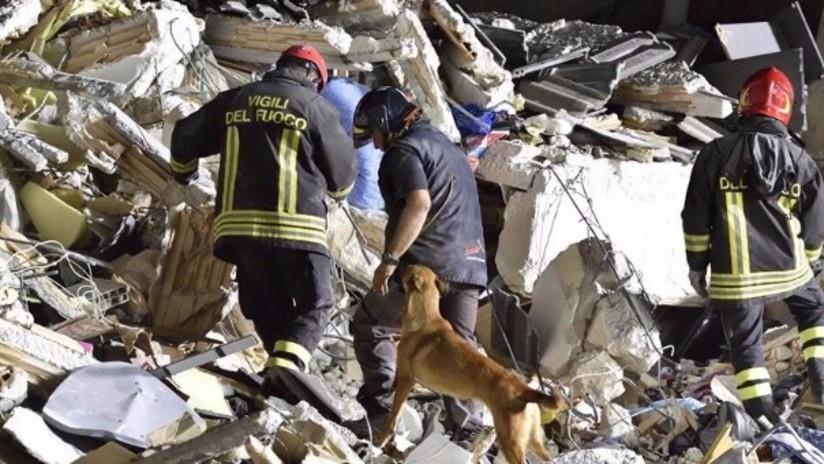 Video: terremoto en Italia de 6.2 grados dejó al menos 247 muertos