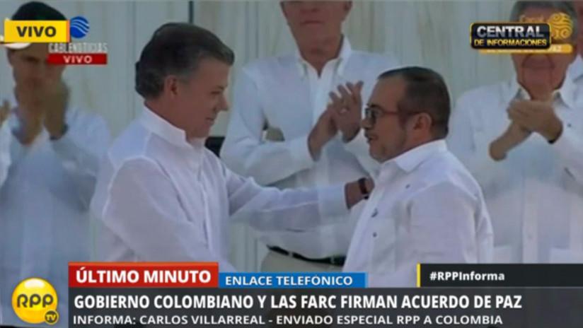 Colombia y las FARC firmaron acuerdo de paz en Cartagena