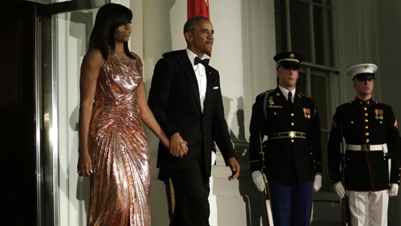Michelle Obama se vistió para impresionar en su última cena de Estado como Primera Dama de