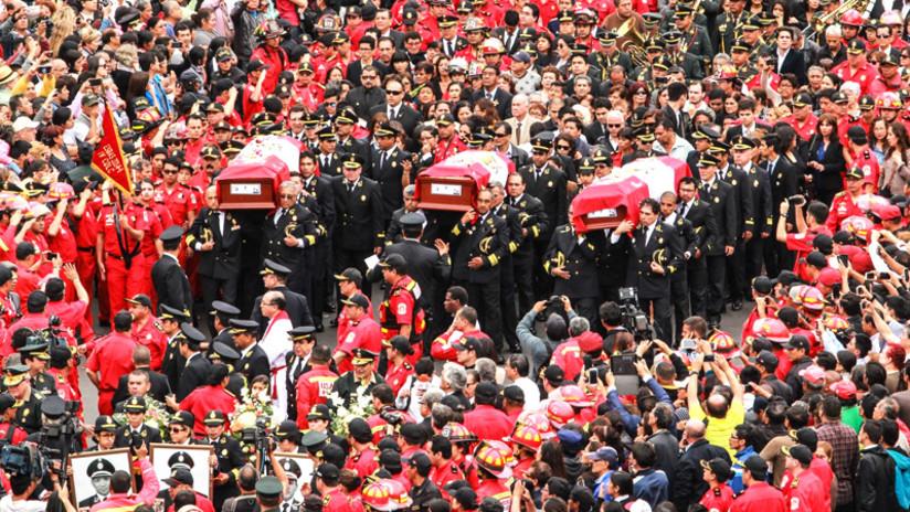 Así fue el doloroso último adiós a los bomberos héroes