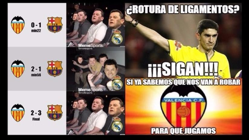 Los 10 mejores memes que dejó triunfo del Barcelona sobre el Valencia