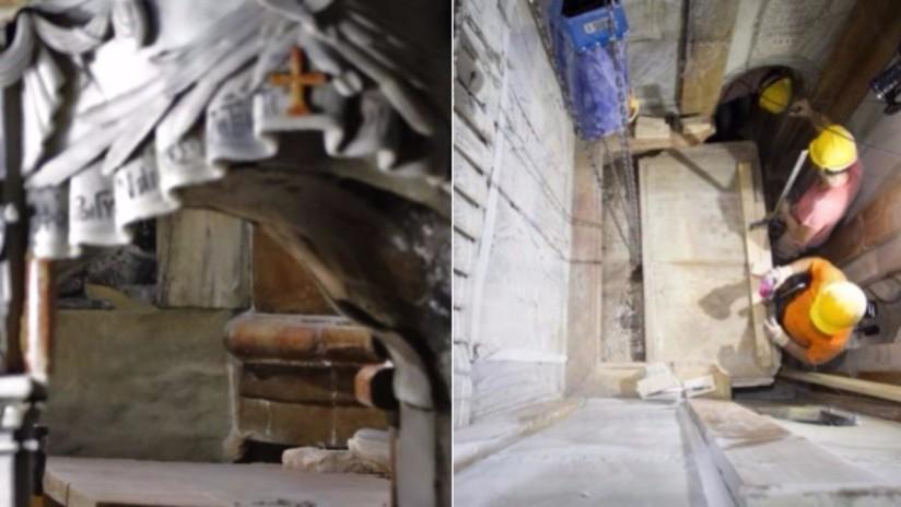 Así son los trabajos de restauración en la tumba de Jesucristo