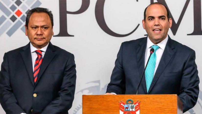 Fernando Zavala aceptó la renuncia del ministro de Defensa
