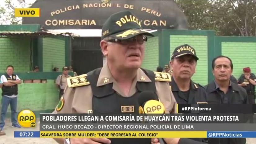 """La Policía culpa a """"agitadores profesionales"""" del ataque a comisaría"""