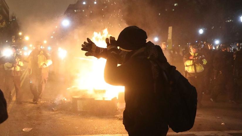 Las protestas contra Donald Trump en Washington dejaron 217 detenidos