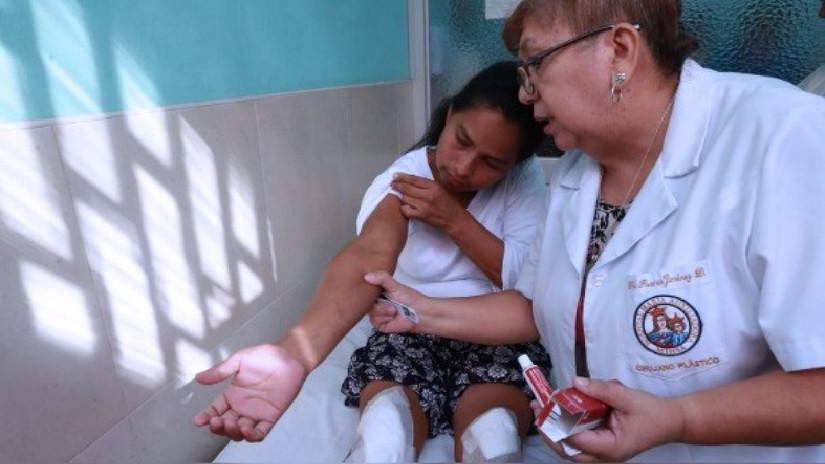 Así fue la primera terapia de rehabilitación de Evangelina Chamorro