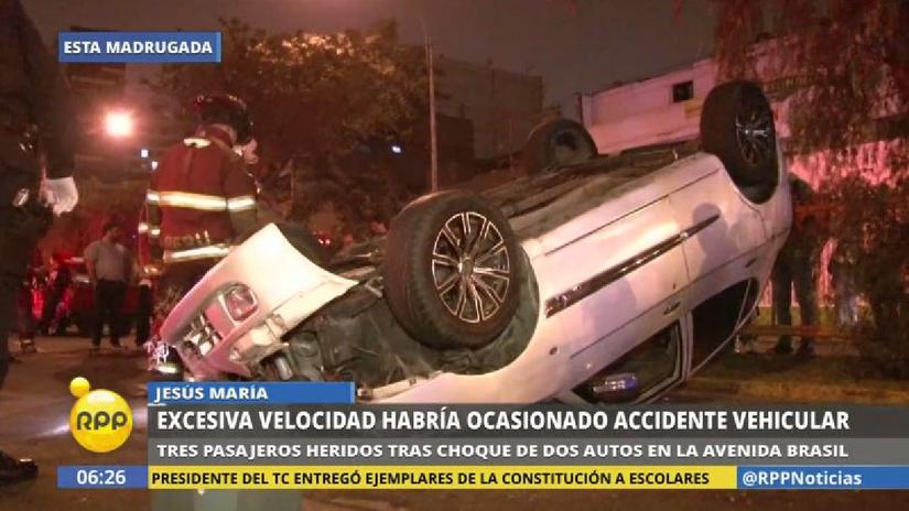 Un imprudente chofer causó un violento accidente en Jesús María