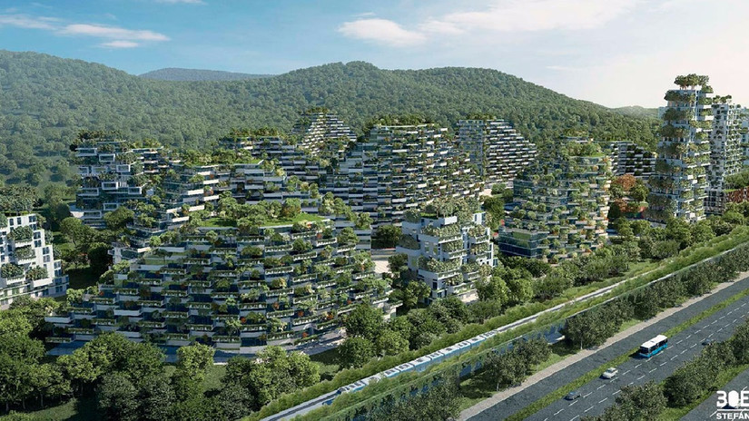 Fotos | China construye una 'ciudad bosque' para combatir la contaminación