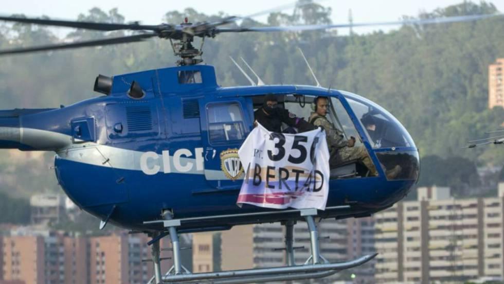 Policías rebeldes lanzan granadas contra corte venezolana desde un helicóptero