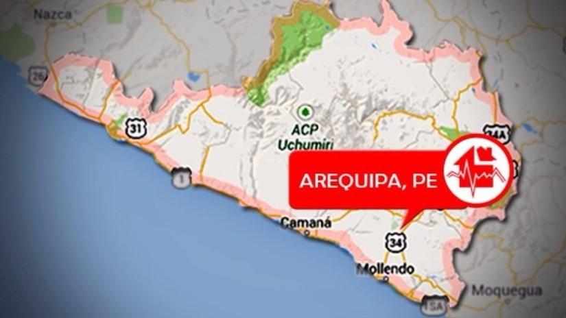 Nuevo sismo de 5.5 grados de magnitud remeció Arequipa