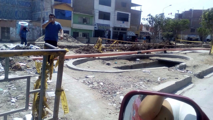 Chiclayo: Obra sin ejecutar genera malestar en los pobladores desde hace meses