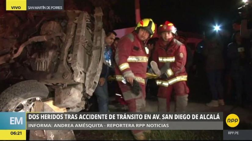Dos heridos graves en un accidente en San Martín de Porres
