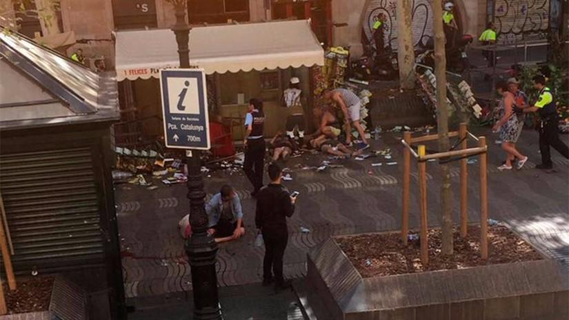 Atropello masivo en una zona turística de Barcelona