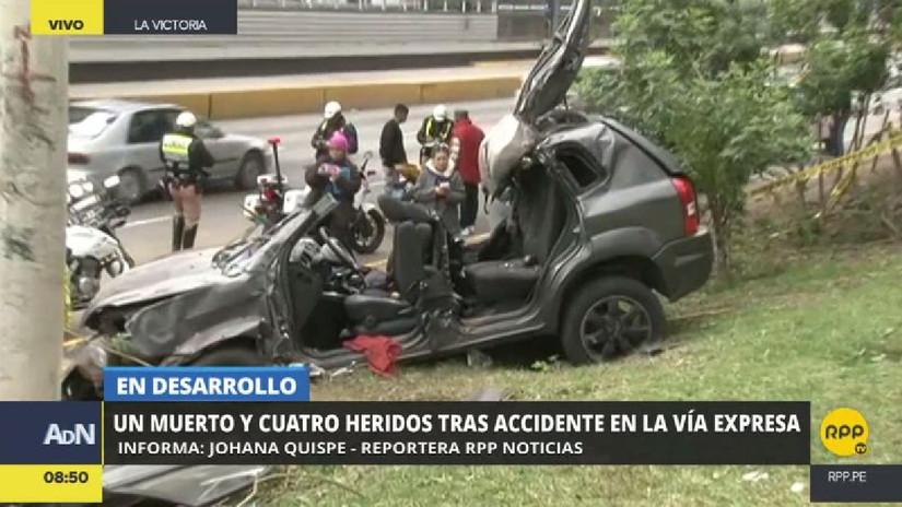 Un muerto y cuatro heridos en un accidente de tránsito en la Vía Expresa