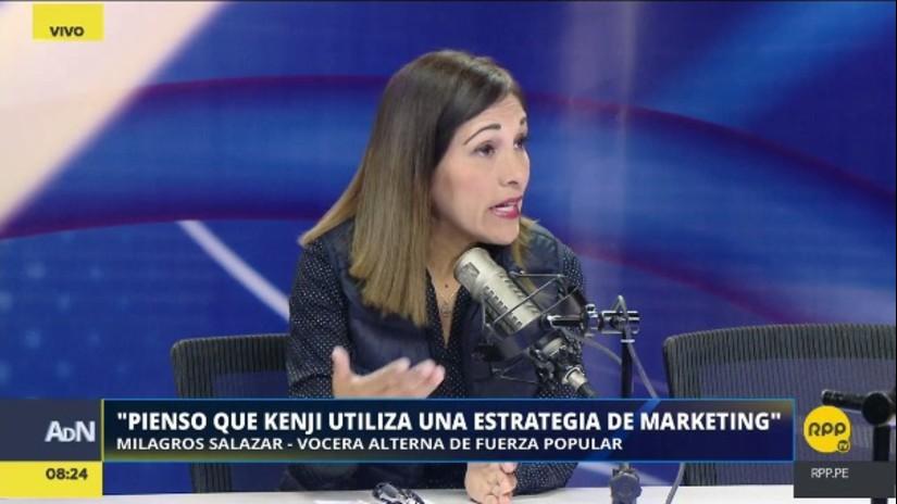 """Milagros Salazar: """"No conozco a Alberto Fujimori. No iré a visitarlo porque me lo dicen"""""""