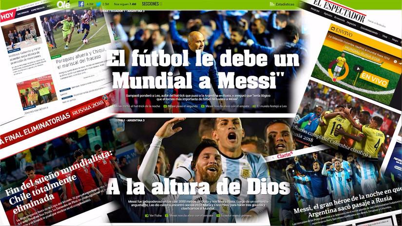 Así informó la prensa de los países que tenían chances para ir al Mundial