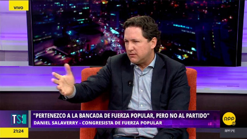 Daniel Salaverry aseguró desconocer quién administra Fuerza Popular