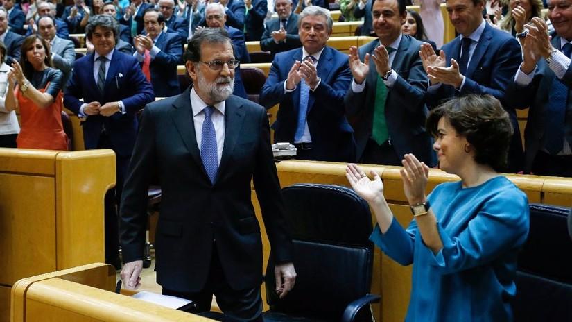 El Senado de España le dio a Rajoy las facultades para asumir el control de Cataluña