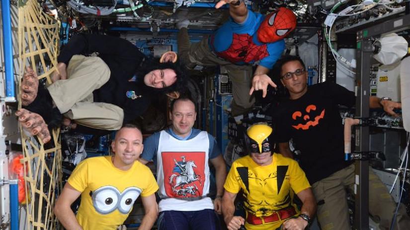 Así celebraron Halloween los astronautas de la Estación Espacial Internacional