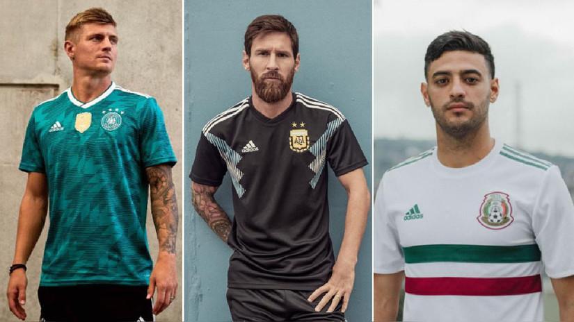 Estas selecciones presentaron sus camisetas alternas para Rusia 2018