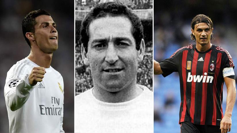 Cristiano Ronaldo y los jugadores que ostentan más títulos de Champions League
