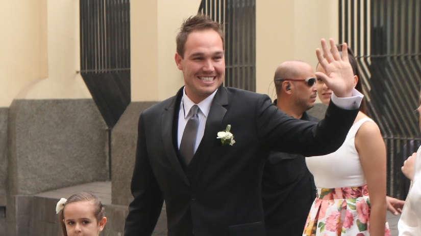 Vanessa Terkes: Así fue la llegada de George Forsyth a su boda religiosa [FOTOS]