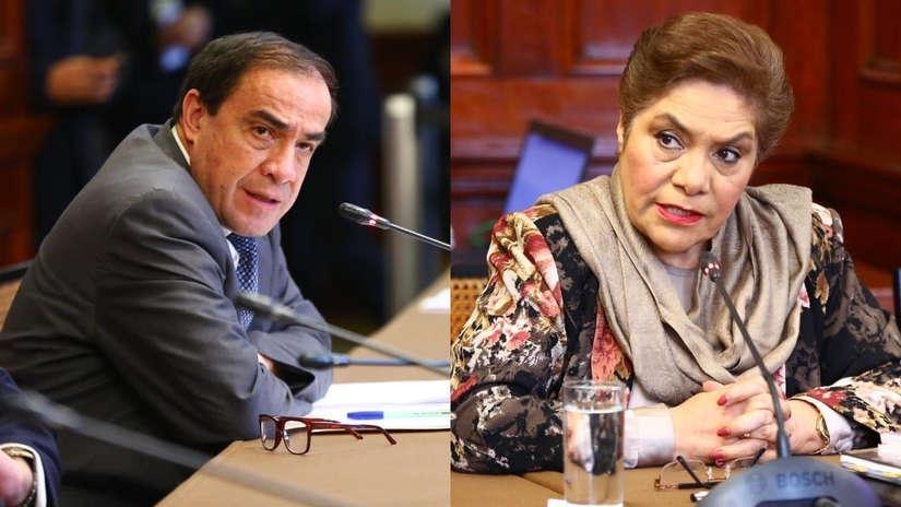 Salgado y Lescano protagonizaron altercado en la comisión de Constitución por críticas al Congreso
