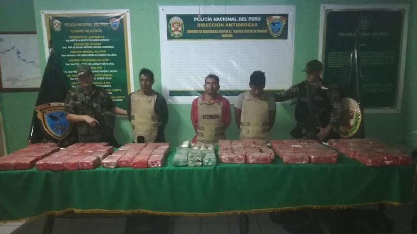 Ocho detenidos por transportar 200 kilos de cocaína por el río Amazonas