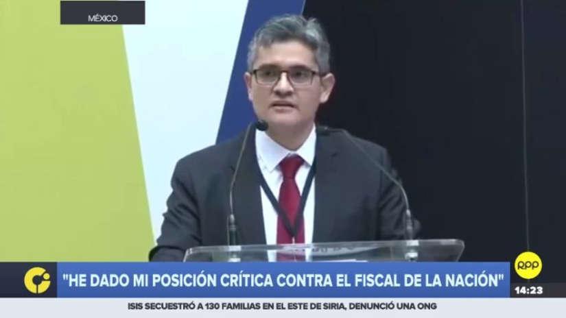 El fiscal José Domingo Pérez se reafirmó en crítica a Pedro Chávarry