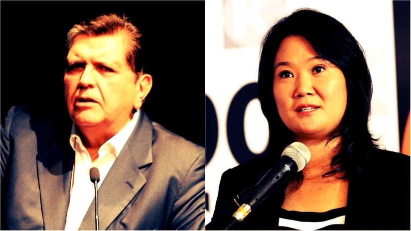 Keiko Fujimori y Alan García son los líderes políticos con mayor desaprobación