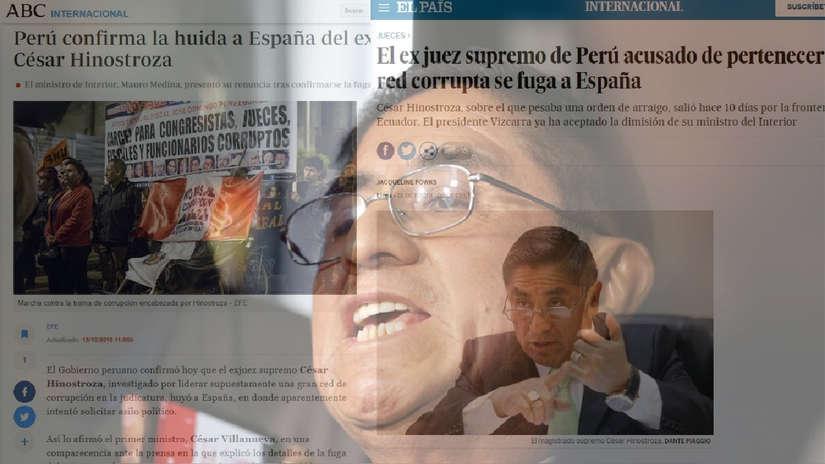 Así informó la prensa española sobre la fuga de César Hinostroza a su país