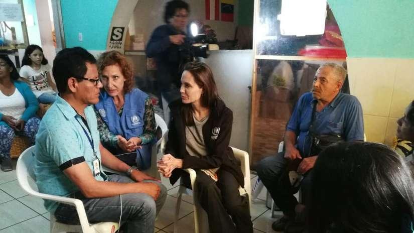 Angelina Jolie en Lima: Así fue su conmovedora visita a albergue de migrantes venezolanos
