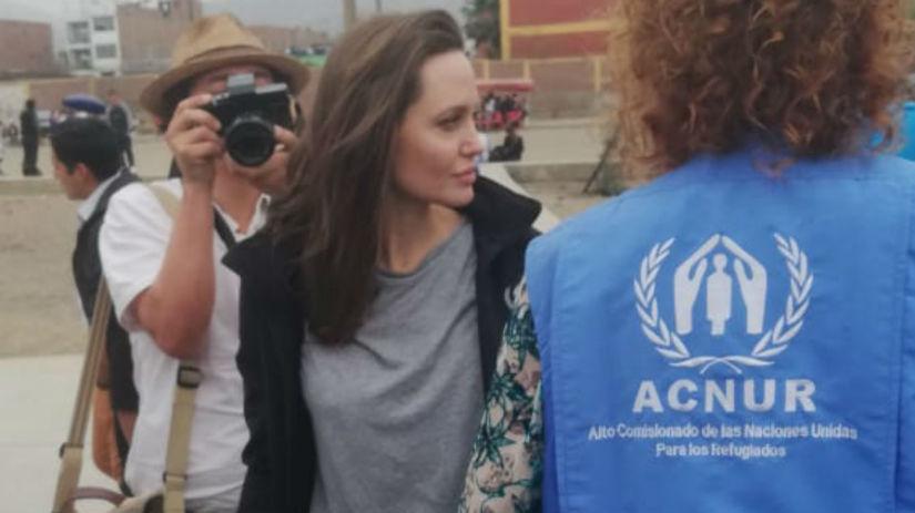 Angelina Jolie llegó a Tumbes para ver la situación de los venezolanos en la frontera [VIDEO]