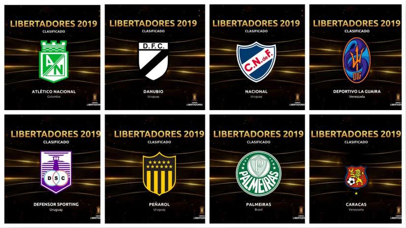 Copa Libertadores 2019: conoce los 44 clubes clasificados a la próxima edición del torneo internacional | FOTOS
