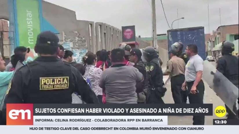 Detenido confesó que golpeó, violó y estranguló a la niña de 10 años en Barranca