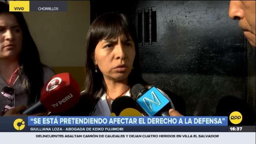Giulliana Loza afirma haber sido incluida en investigación del caso Cócteles por