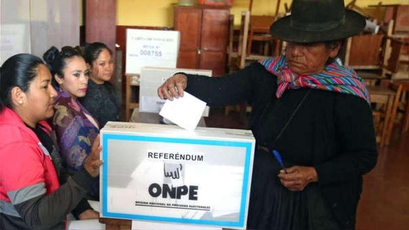 Referéndum 2018   El insólito caso donde todo un distrito votó por el Sí, Sí, Sí y No