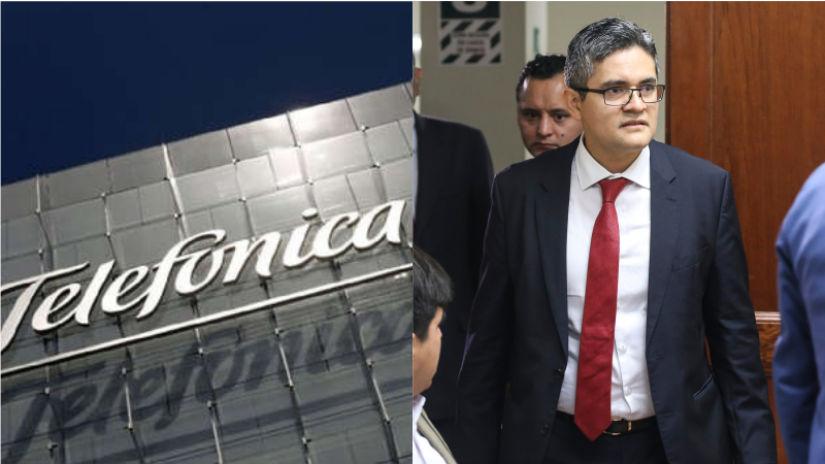 Fiscal José Domingo Pérez realiza diligencia en empresa Telefónica
