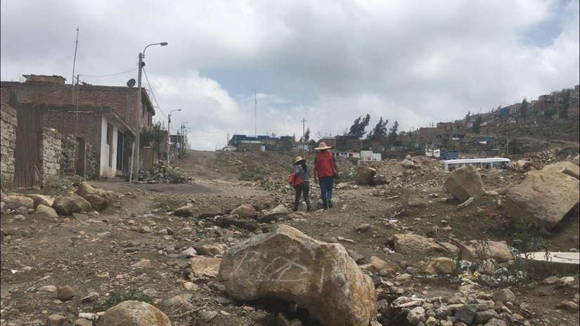 Galería | La quebrada que puede provocar otra desgracia en Arequipa