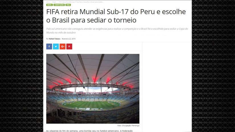 Perú se quedó sin Mundial Sub 17: así informó la prensa internacional sobre la decisión de la FIFA