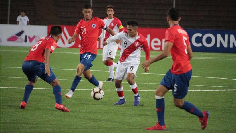 Perú empató 0-0 con Chile en su debut en Sudamericano Sub 17