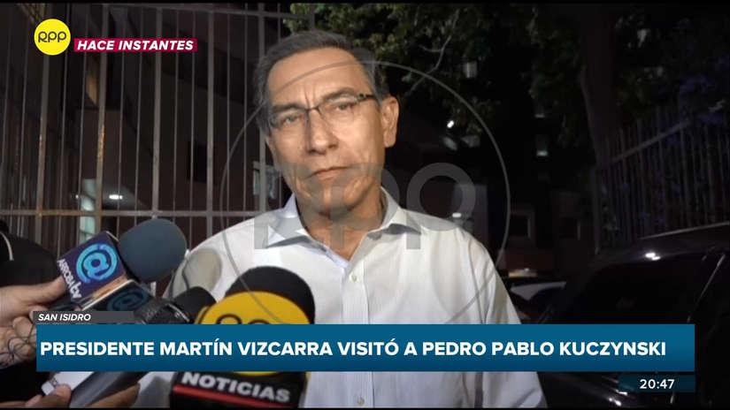 Vizcarra visitó en la clínica a PPK:
