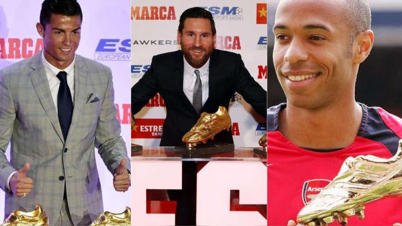 Lionel Messi y Cristiano Ronaldo: conoce a los principales ganadores de la Bota de Oro