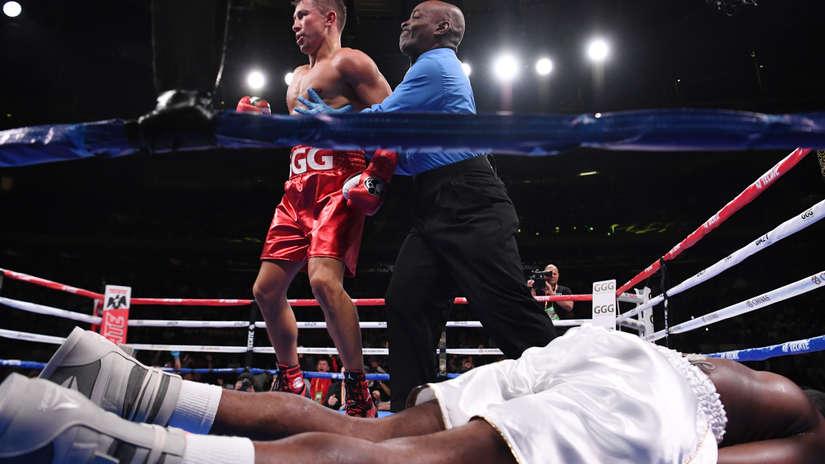 Gennady 'GGG' Golovkin noqueó a Steve Rolls  en el cuarto round en el Madison Square Garden   VIDEO
