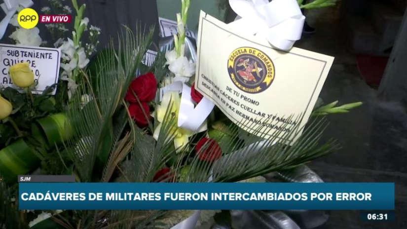 Militares asesinados en el VRAEM son velados por sus familias tras polémico intercambio de cadáveres